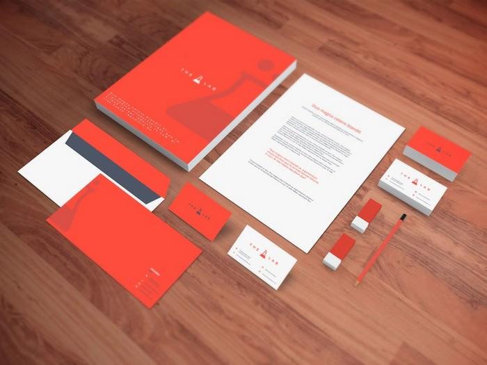 Realistic Stationery PSD Mockup