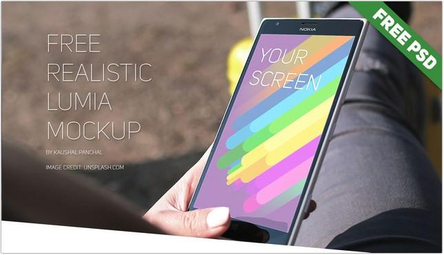 Realistic Windows Lumia Mockup