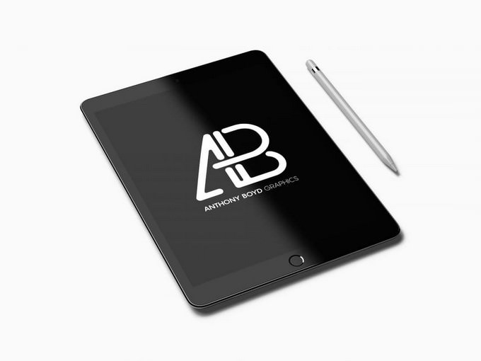 Realistic iPad Pro Mockup Vol.2