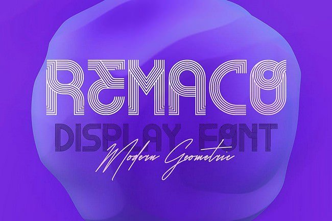 Remaco - Display Font