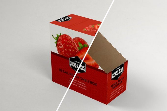 Retail Shelfbox 13 Packaging Mockup