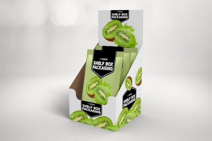 Retail Shelfbox 16 Packaging Mockup