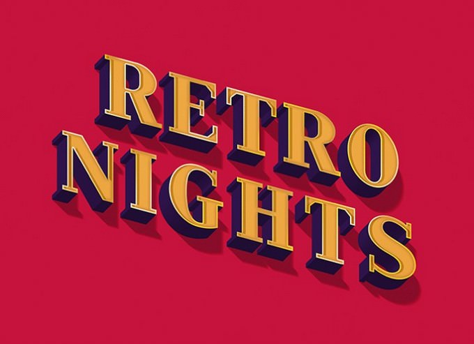Retro-Nights-Text-Effect