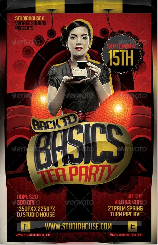 Retro Tea Party Flyer