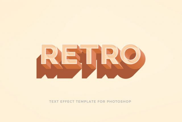 Retro / Vintage Text Effect For Photoshop