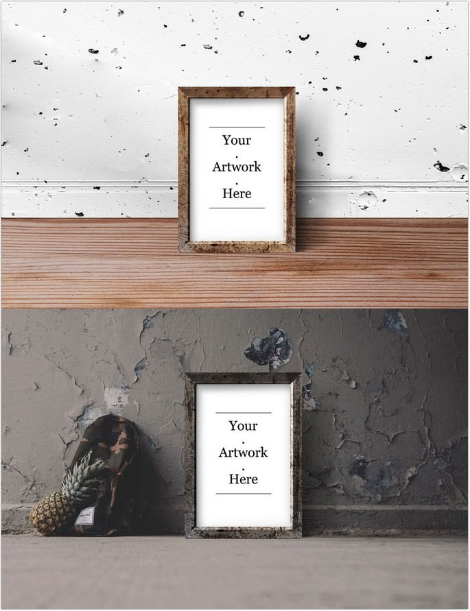 70+ Free Poster and Frame Mock-ups PSD / Vector For Designer ...