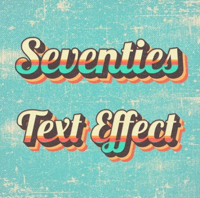 Seventies Style Text Effect