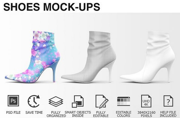 Woman Shoes Mockups