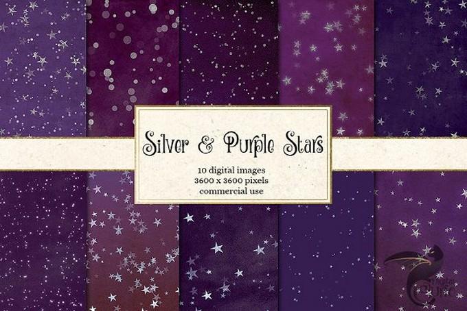 Purple Stars Texture