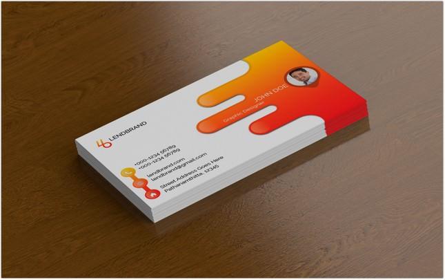 Single Business Card PSD Mockup