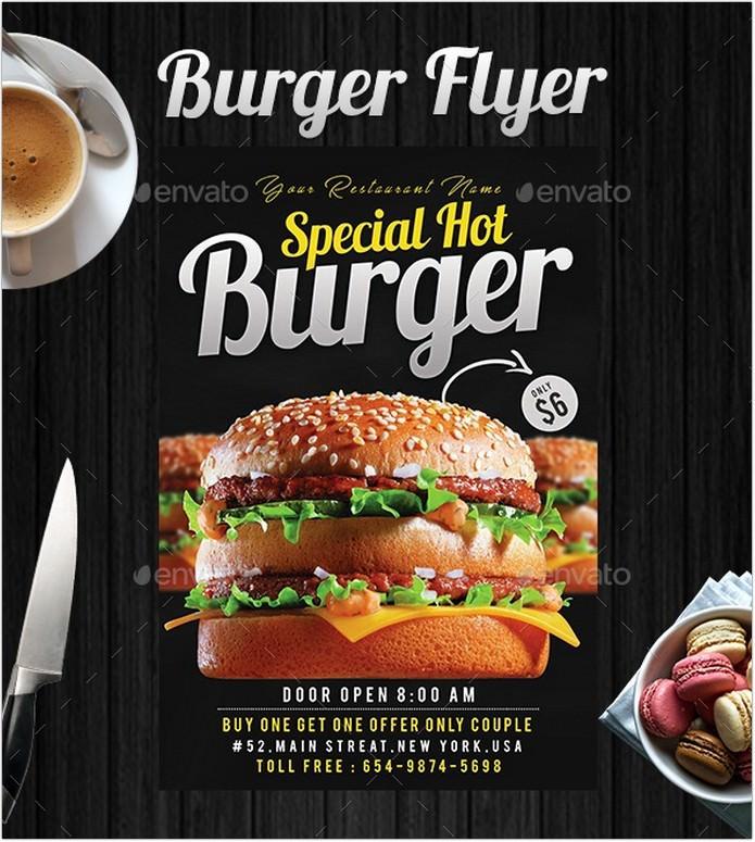 Special Hot Burger Flyer