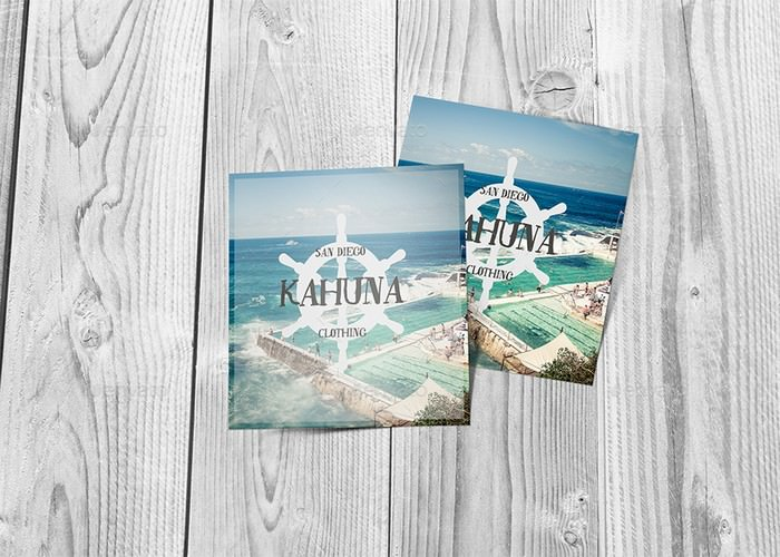 Square Postcard / Invitation Mockup