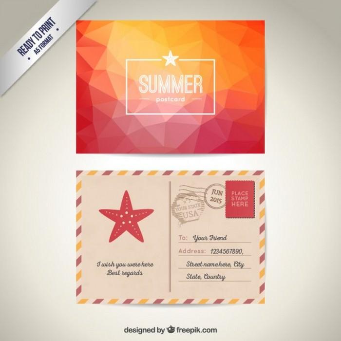 Summer Post Card Free Vector