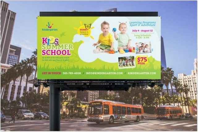 Summer School Billboard Banner Template