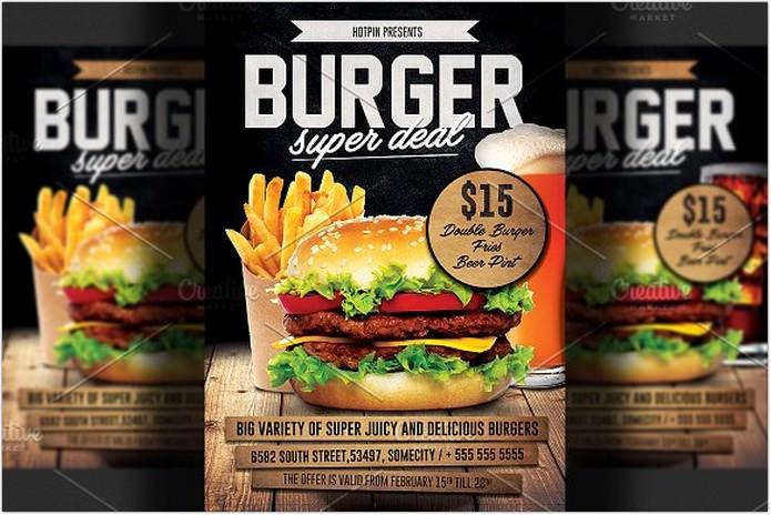 Super Deal Burger Promotion Flyer Template