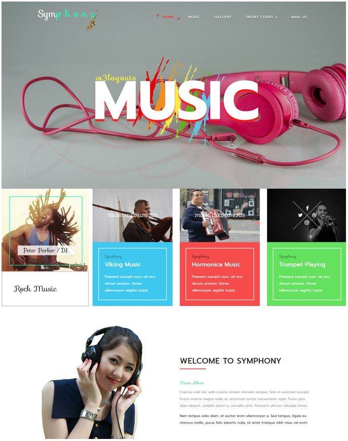 Symphony Entertainment Responsive Website Template