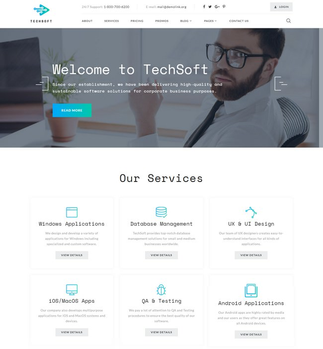 TechSoft - Business Software Multipage HTML5 Website Template