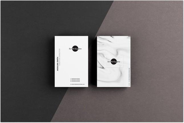 Textured Business Card Mockup PSD