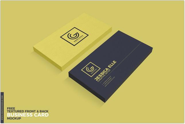 Textured Front & Back Business Card Mockup