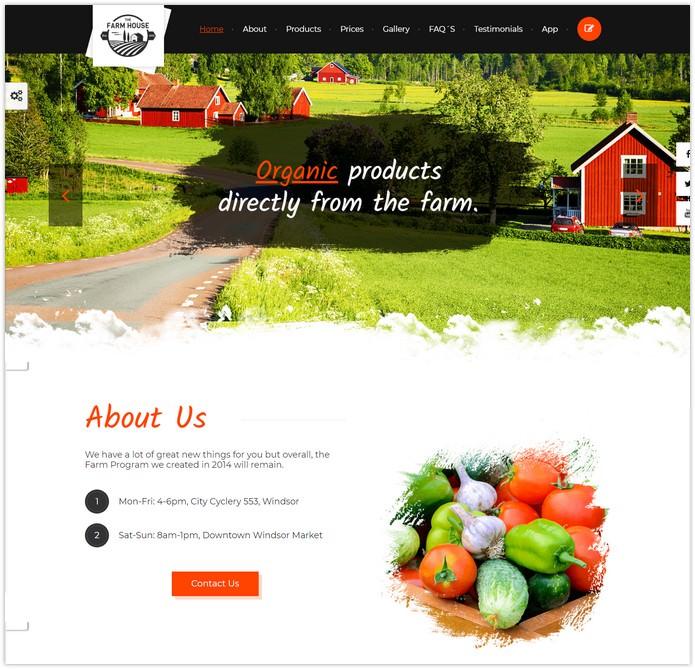 Farm House HTML5 Template