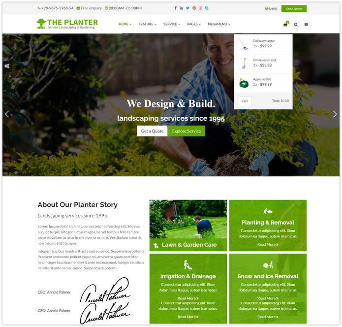 Planter Website Template