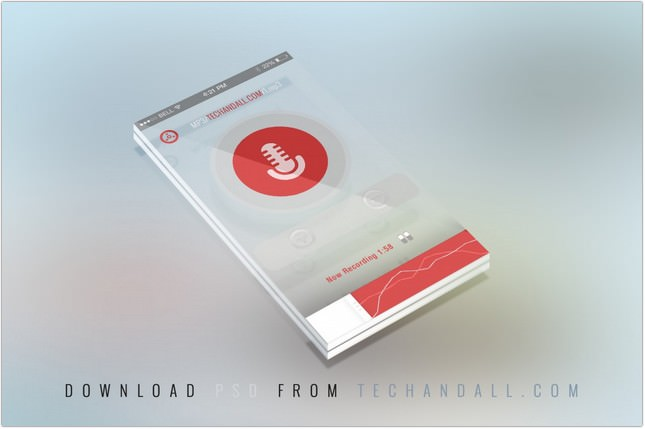 Translucent Perspective Mobile Mock-up Screen with 3D Depth