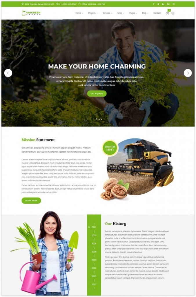 Agriculture and Gardening HTML Template