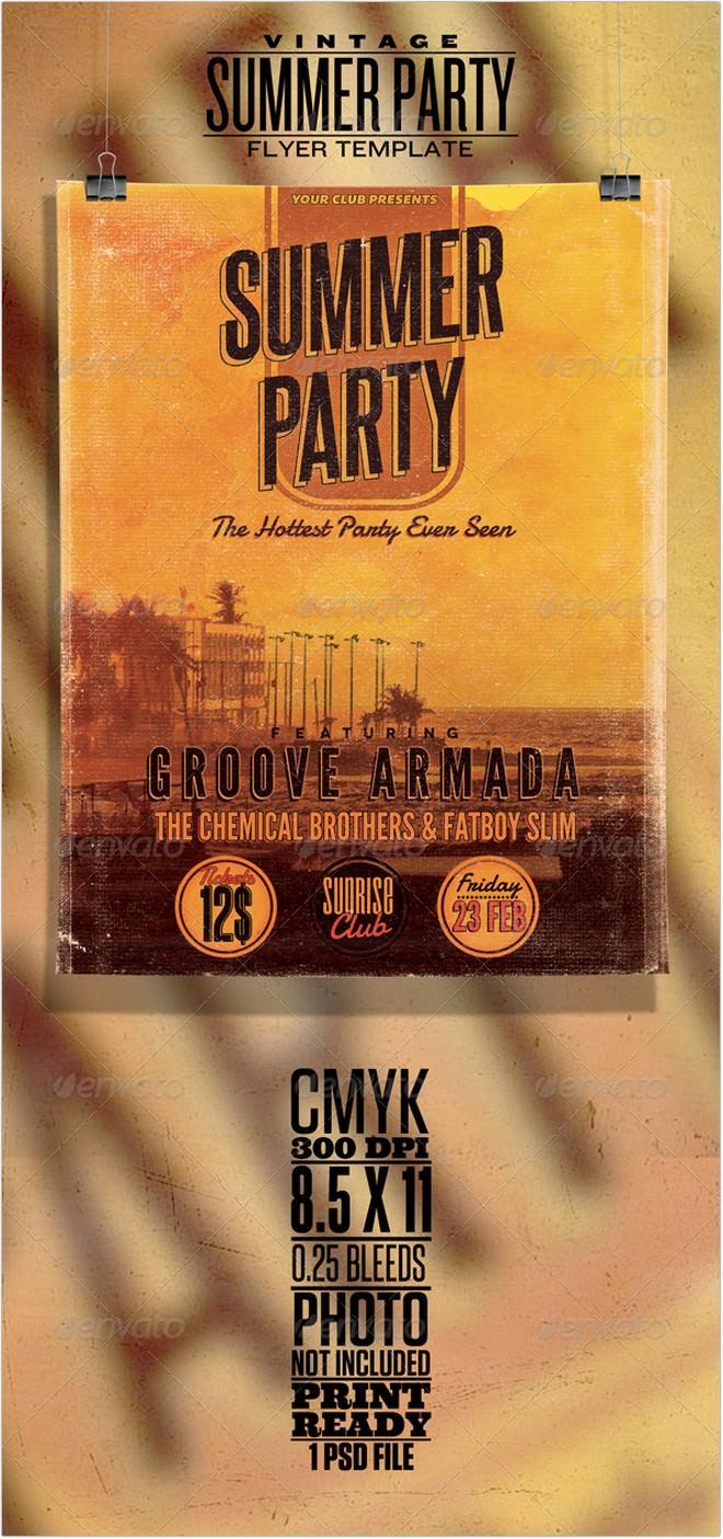 Vintage Summer Party Poster Flyer