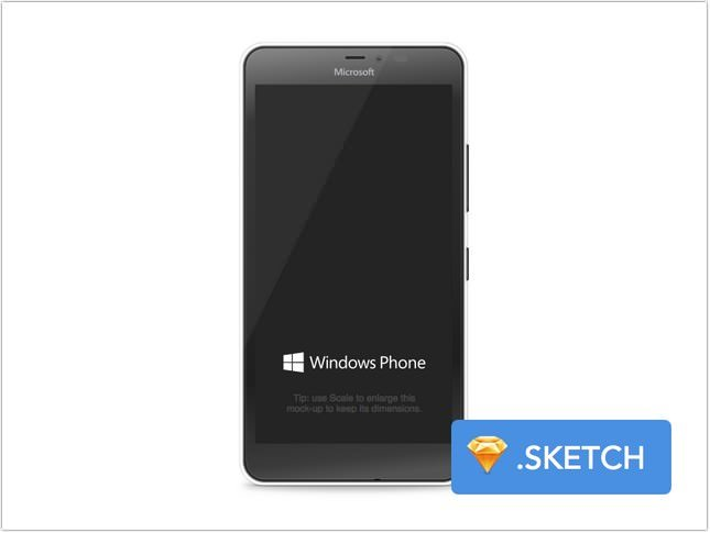 Windows Phone mock-up for Sketch
