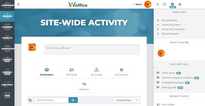 Woffice - Intranet Extranet WordPress Theme