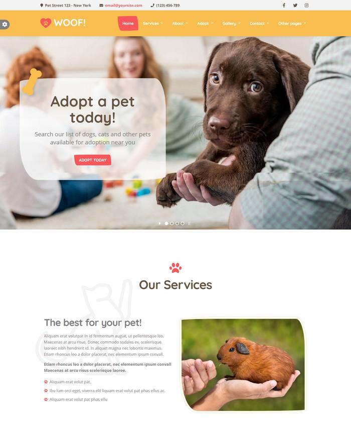 Woof! - Pet HTML5 Template