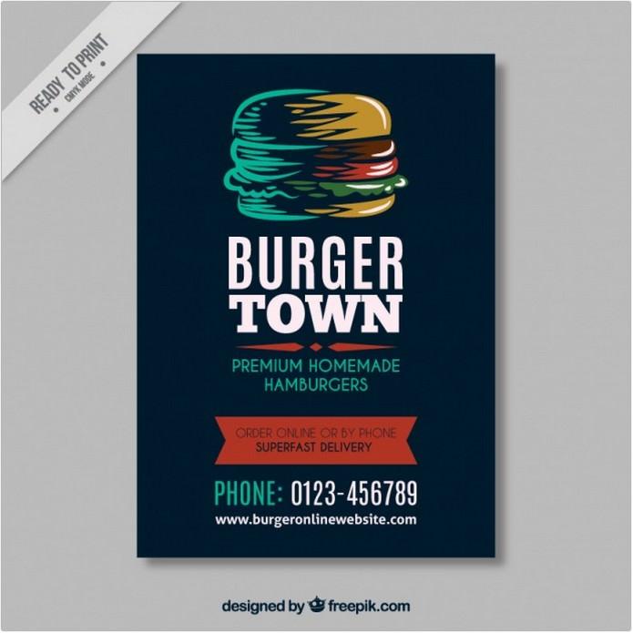 hamburger Vintage Brochure Template
