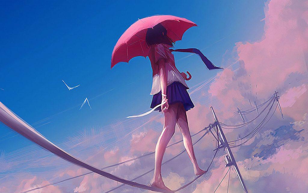 1920×1200-Anime Girl Walking On rope