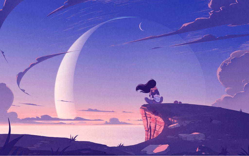 2560×1600-Anime Alone Girl On Mountain