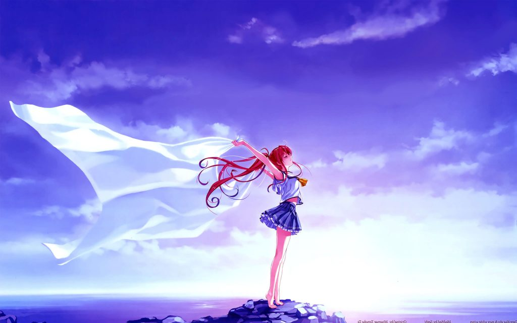 Anime Girl Feels White Wings HD Wallpaper-2560×1600