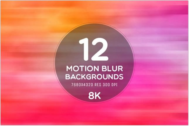 12 Free Motion Blur 8K Backgrounds