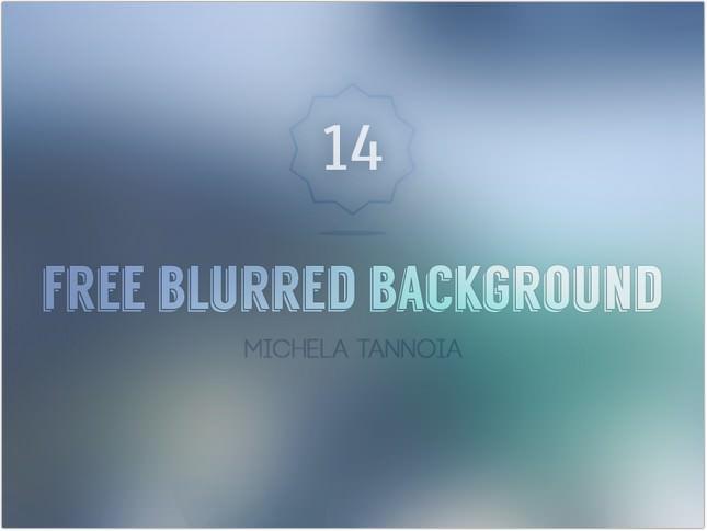 14 Free Blurred Background