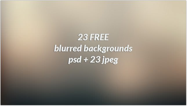 23 Free Blurred Backgrounds