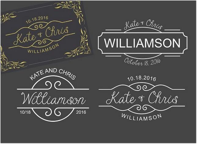 3 Monogram Template Logo Wedding