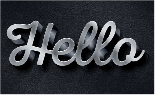 3D Metallic Text Effect