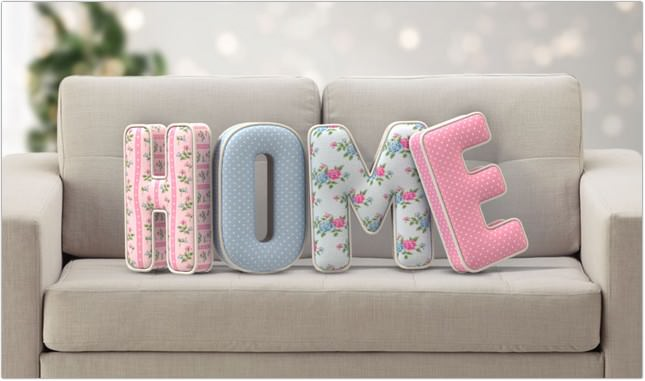 3D Stuffed Letters Text Effect