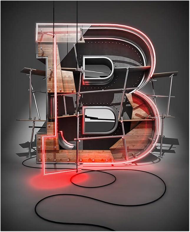 3D Typographic effect