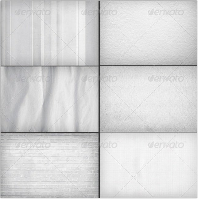 6 White Backgrounds Bundle