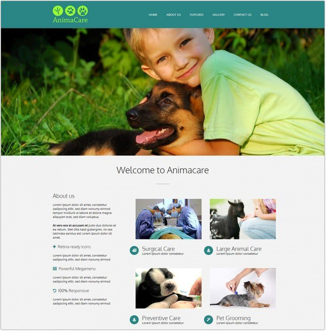 Animacare – A Veterinarian PHP Theme