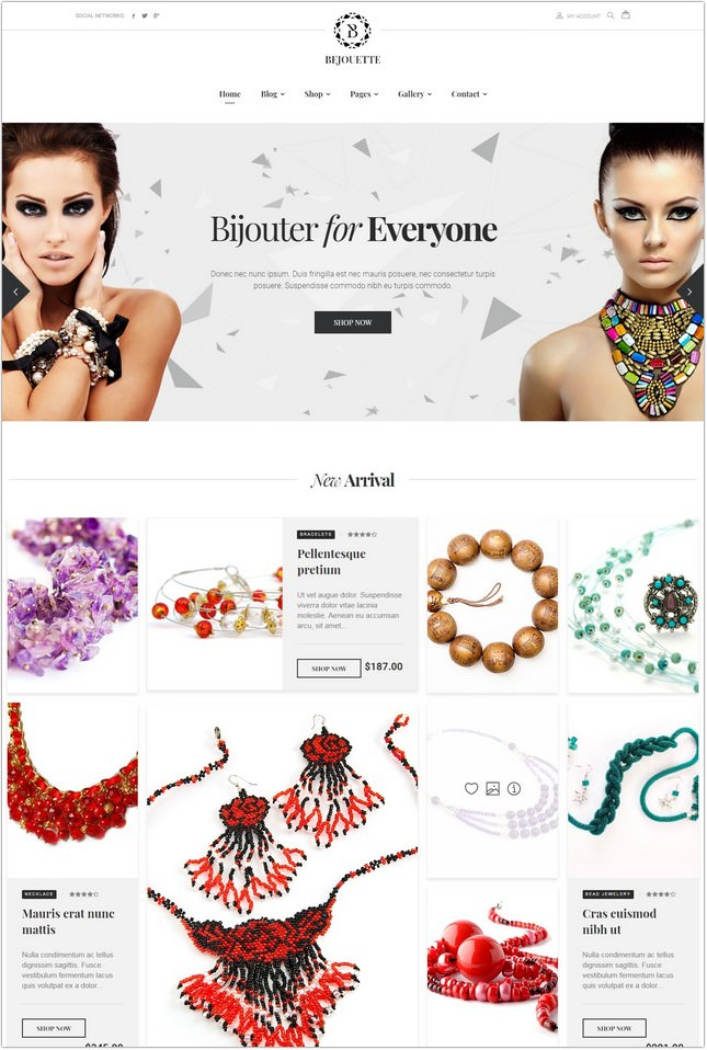 Bejouette - Handmade Jewelry Designer PHP Template