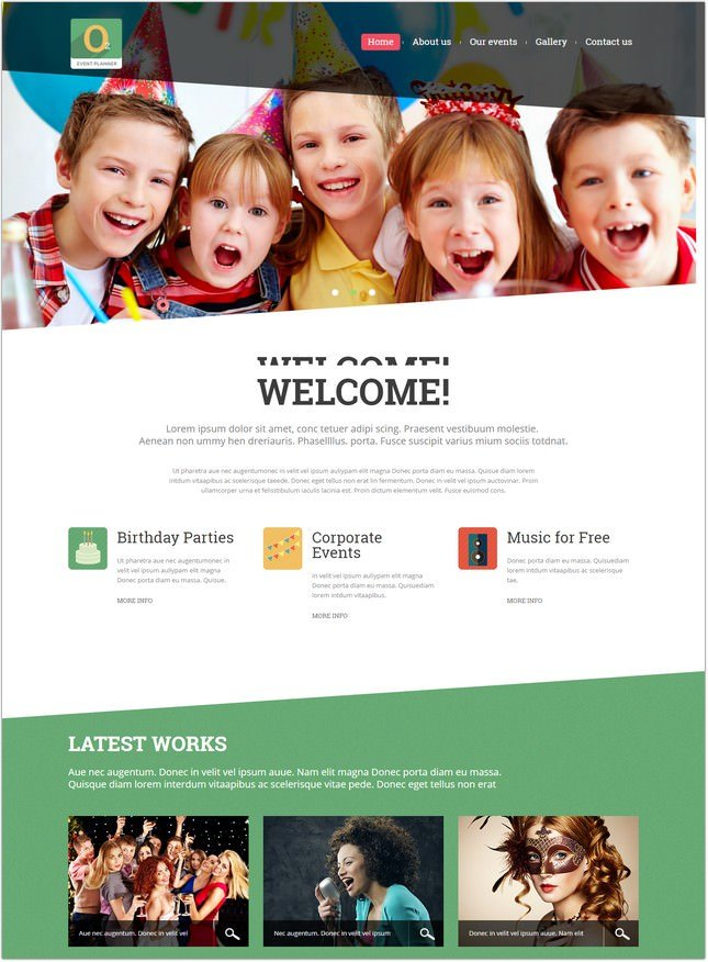 Best Event Planner Joomla Template