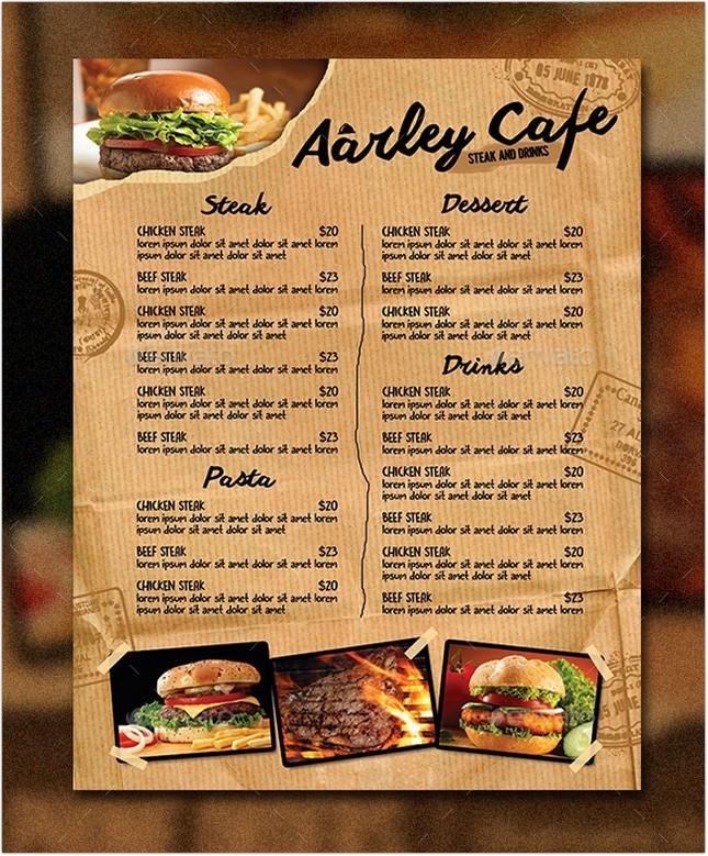 Cafe Menu Flyer + Business Card