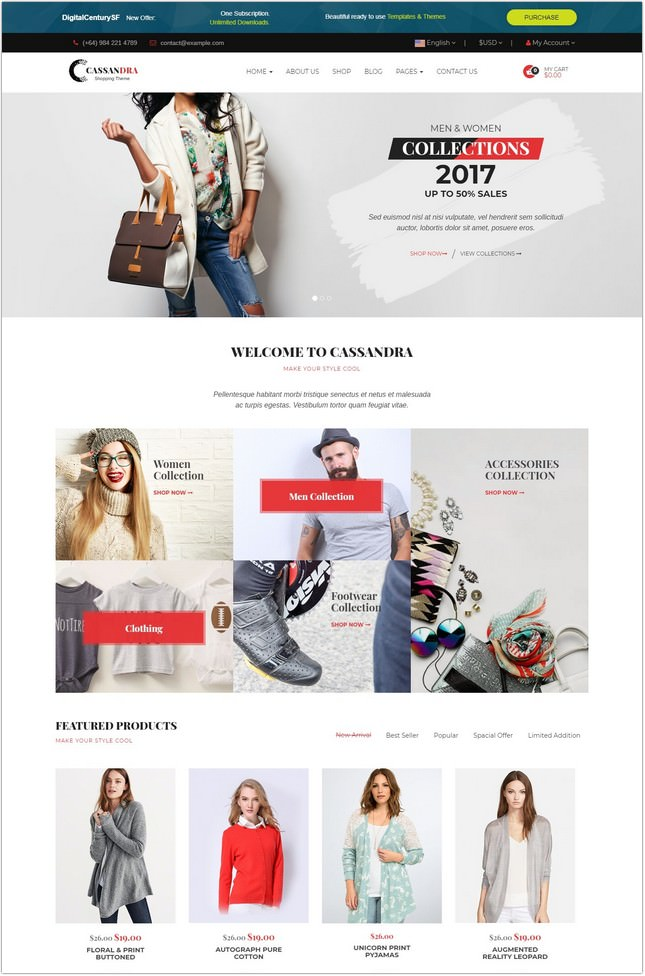 Cassandra - Responsive Retail WordPress Theme