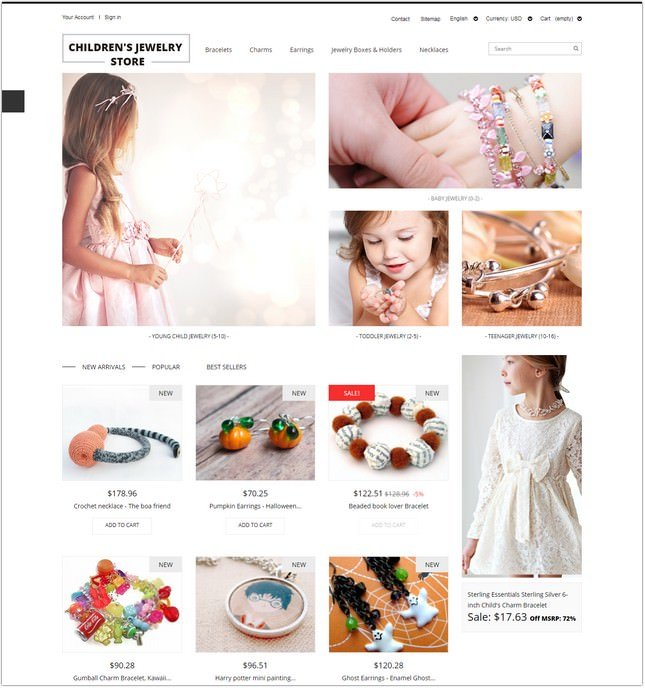 Children's Jewelry Store PrestaShop Theme