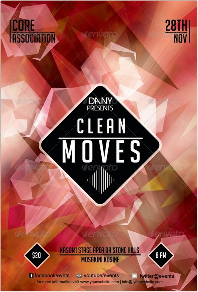 Clean Moves 13 Polygon Flyer